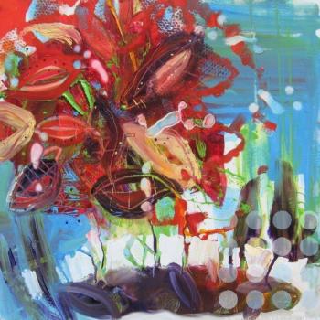 """Left: """"Sunshade"""", Joanne Thompson"""
